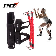 TTCZ Fitness Bounce Trainer Rope Resistance Band  Basketball Tennis Running Jump Leg Strength Agility Training Strap  equipment #Affiliate