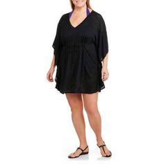 8e0568735f8 Catalina Women s Plus-Size Burnout Flutter Tunic Swim Cover-Up