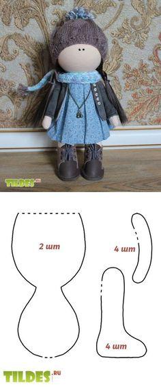 Рукодельное хобби Как сшить тельце для интерьерной маленькой куклы в стиле Татьяны Коннэ с использованием пенопластового шара для головы.  Мастер-класс от Анны Киселевой.
