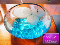 bowl oval con velas flotantes by ALUZZA Atmosferas que Iluminan, via Flickr