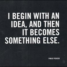 Pablo Picasso Quote (About design, idea, painting)