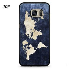 World Map Color For Samsung Galay S6 Edge Plus Case