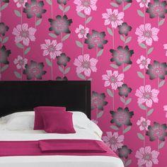 Fl Cerise Pink Wallpaper Http Www Worlds Co Uk