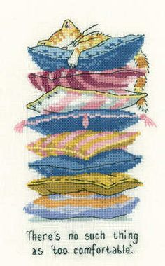 Too Comfortable - Peter Underhill Cross Stitch