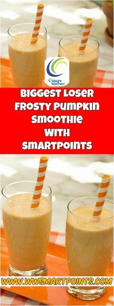Biggest Loser Frosty Pumpkin Smoothie 3 weight watchers Smartpoints