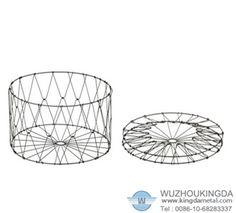 Steel collapsible basket,Steel collapsible basket supplier-Wuzhou Kingda Wire Cloth Co. Ltd