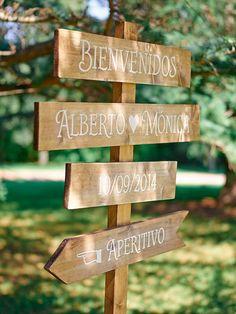 Mónica + Alberto - Bodas de Cuento Shed Wedding, Wedding Signs, Garden Wedding, Rustic Wedding, Our Wedding, Dream Wedding, Wedding Details, Wedding Events, Wedding Decorations