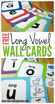 FREE Long Vowel Wall Cards for the Initial Long Vowel Sound ~ for print and manuscript | This Reading Mama