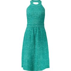 M Missoni Cutout stretch-cloqué dress (£188) ❤ liked on Polyvore featuring dresses, jade, m missoni dress, stretchy dresses, cutout dresses, blue fitted dress and cut out back dress
