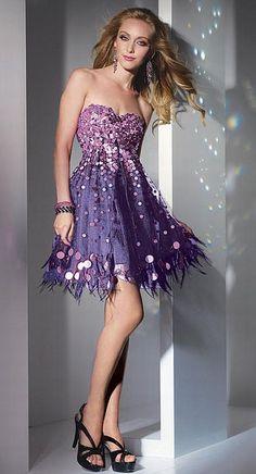 a0140351350 Alyce Paris After Five Cocktail Fringe Short Prom Dress 4224 - French  Novelty