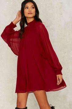 Nasty Gal Winnie Bell Sleeve Dress - Red - Best Sellers | Cocktail Dresses | Red Dresses | Dresses