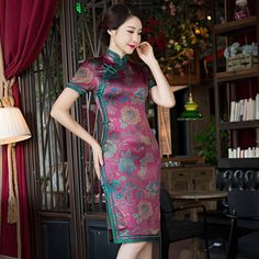chinese dress bamboo print dress https://www.ichinesedress.com/