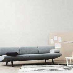 Erik Jørgensen - In Duplo. #gråindretning #sofa #kontor