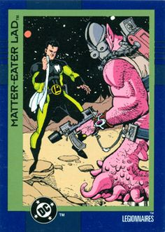 Matter-Eater Lad from DC Cosmic Teams #95 (1993). Art by Ty Templeton.
