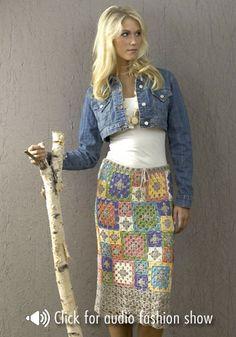 free knit and crochet skirt patterns doris chan free crochet pattern skirt granny square fashion flouce archena caron