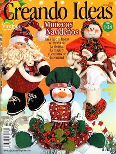 Creando ideas 108. Обсуждение на LiveInternet - Российский Сервис Онлайн-Дневников Book Crafts, Hobbies And Crafts, Diy And Crafts, Sewing Magazines, Painted Books, My Scrapbook, American Crafts, Felt Dolls, Miniature Dolls