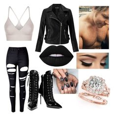 First Date w/ Dean Ambrose by mrs4mbrose on Polyvore featuring polyvore fashion style Miss Selfridge SPANX WithChic Giuseppe Zanotti clothing