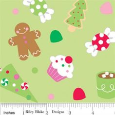 Riley Blake Christmas Candy Green Main