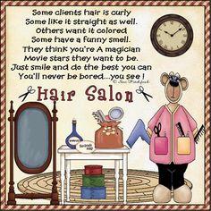 Hair Salon lol never am I enjoy it more n more