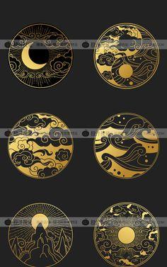 Art Deco Pattern, Icon Design, Packaging Design, Geometry, Tatoos, Tatting, Diy And Crafts, Japan, Texture