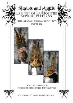 """Buckram """"Abigail"""" Victorian  Hat Millinery Sewing Pattern (ABHP) op Etsy, 7,51€"""