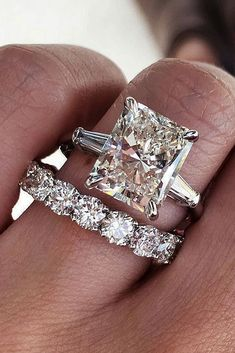 Engagement Ring That Was Created For A Special Bride ❤️ engagement ring wedding set emerald cut solitaire white gold ❤️ See more: http://www.weddingforward.com/engagement-ring/ #weddingforward #wedding #bride