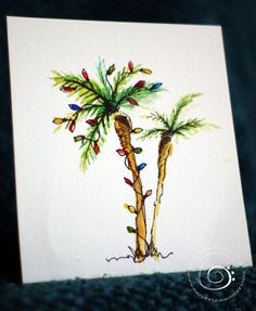 Christmas Palm Tree Christmas Cards By Everything0beautiful 10 00 Christmas Tree Drawing Christmas Palm Tree