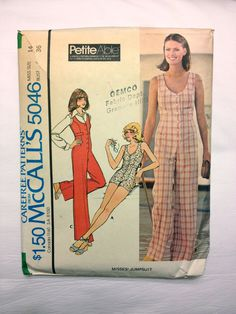 70's McCall's 5046 Pattern // Misses' by ElkHugsVintage on Etsy