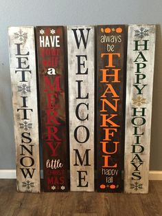 Pin de tricia hawkins en craft pinterest reversible winter sign this is the perfect sign to give your home some holiday cheer solutioingenieria Image collections