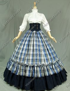 Victorian Gothic Dress Ball Gown Punk Halloween Stage Costume Reenactment Clothing