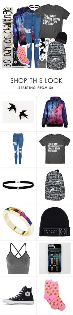 """30 Day OC challenge: LAST DAY!"" by wibbly-wobbly-timey-wimey-dork on Polyvore featuring Topshop, Amanda Rose Collection, StyleRocks, Ivy Park, Converse and HOT SOX"