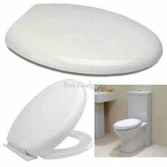 Luxury Soft Close Toilet Seat in White