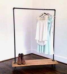 Logan Square Reclaimed Wood & Pipe Garment Rack | Tiny closets, no problem. This garment rack displays your clot... | Furniture