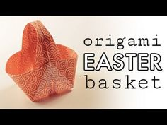 Learn how to fold a cute Origami Easter Basket from 1 sheet of square paper! Perfect put your easter eggs and gifts into. ⬇︎ OPEN ME ⬇︎ ? Get a FREE printable origami paper pack: . Diy Origami, Cute Origami, Origami Folding, Paper Folding, Origami Paper, Origami Envelope, Origami Instructions, Origami Tutorial, Origami Youtube