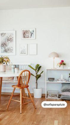 Nordic Home, Nordic Interior, Modern Interior, Home Interior Design, Shabby Chic Decor, Office Desk, Home And Garden, Dining Room, Ideas