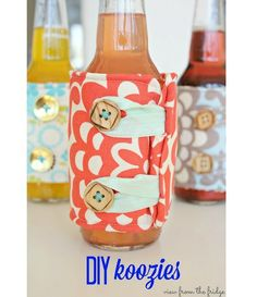 Tutorial: Pretty fabric bottle coozies | Sewing | CraftGossip.com