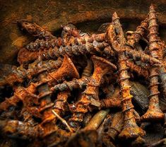 rusty screws (When you see it) lol.