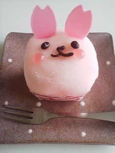 Pink Mochi Cake Filled with Strawberry Chiffon Sponge and Mousse|もちふわうさぎ キャッ