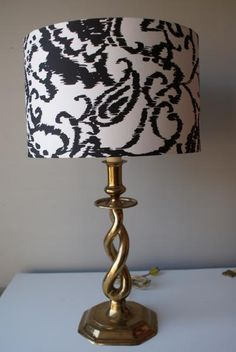 English Brass Twist Lamp. Portable Lamp Co. Mid Century Lamp Exquisite Craftsmanship. Sculptural Lamp. $59.00, via Etsy.