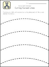 cutting curved lines-cutting practice for pre k Preschool Classroom, Preschool Worksheets, Preschool Learning, Fun Learning, Learning Activities, Learning Shapes, Kindergarten, Physical Activities, Dementia Activities