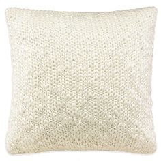 Lady Antebellum's Heartland® Belle Meade Knit Square Throw Pillow in White @Bed Bath and Beyond $46.00