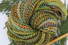 """Worsted Weight Yarn, Handspun """"Bee-Eater"""" Targhee Wool, 135 yards of a 2 ply self striping gradient Knitting Patterns, Crochet Patterns, Online Yarn Store, Yarn For Sale, Bee Eater, Sport Weight Yarn, Sock Yarn, Knit Or Crochet, Hand Spinning"""