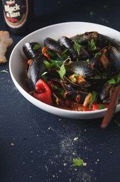 Mussels in spicy tomato sauce.. Yum! By The Tart Tart
