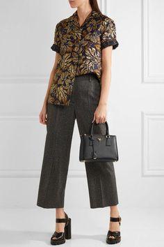 a6c63c4dc1 Prada - Galleria Mini Textured-leather Tote - Black Net A Porter