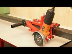 * Stand for grinder for cutting wide format and large length Amazing Awesome Стойка для болгарк. Metal Working Tools, Metal Tools, Wood Tools, Diy Tools, Diy Projects Plans, Metal Projects, Welding Projects, Diy Welding, Welding Tools