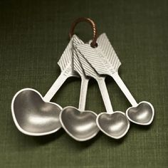 Heart shaped measuring spoons!.  I collect these type of measuring spoons....I would love these!