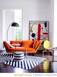Orange Accent Piece - Bright and Modern