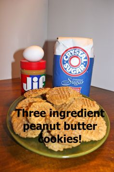 Three ingredient cookie! Very good! I cut the sugar down to 2/3 cup I think.