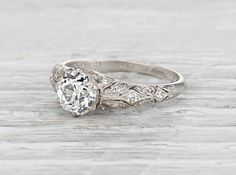 1.05 Carat Edwardian Engagement Ring
