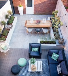 6 The Best Small Terrace Design Ideas For Your Minimalist Home Small Patio Design, Terrace Design, Garden Design, Small Patio Decorating, Landscape Design, Small Backyard Landscaping, Backyard Patio, Small Garden Decking Ideas On A Budget, Landscaping Ideas